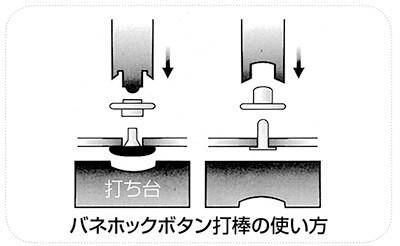 【ネコポス可】バネホックボタン打棒 No.2(小)オスメス2本組 【1356】