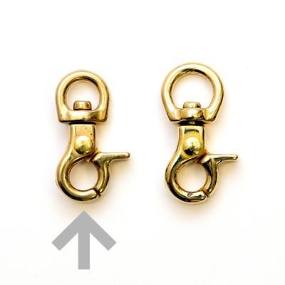 ネコポス可 トラスト 真鍮金具 豆レバーナスカン 入手困難 9901 内径8mm 1個