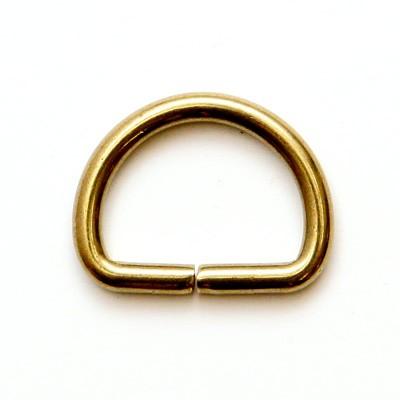 ネコポス可 真鍮金具 Dカン 2個入 1093 お見舞い 新着 内径18mm