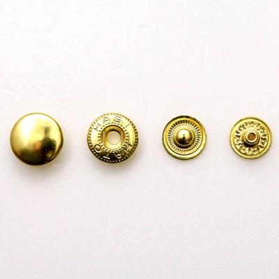 ネコポス可 真鍮金具 今ダケ送料無料 バネホックボタンNo.5 大 激安セール 9506 外径12.6mm×高さ5.8mm 10組入