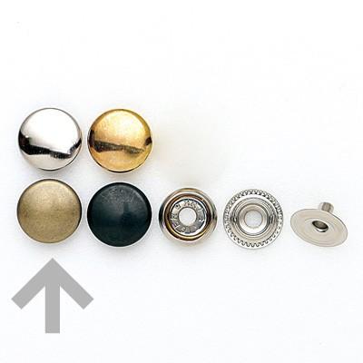 【ネコポス可】ジャンパーボタン 大(#7050) アンティークメッキ金具 10組入【1593】