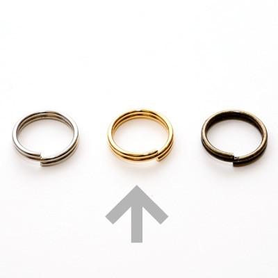 2020A/W新作送料無料 ネコポス可 アウトレット ゴールドメッキ金具 二重リング 3048 内径10mm 4個