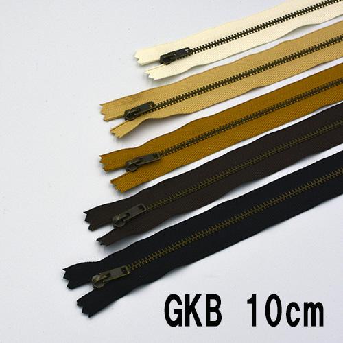 ネコポス可 No.3 YKK 金属ファスナー トレンド 金具:アンティークゴールド ファッション通販 10cm 1本