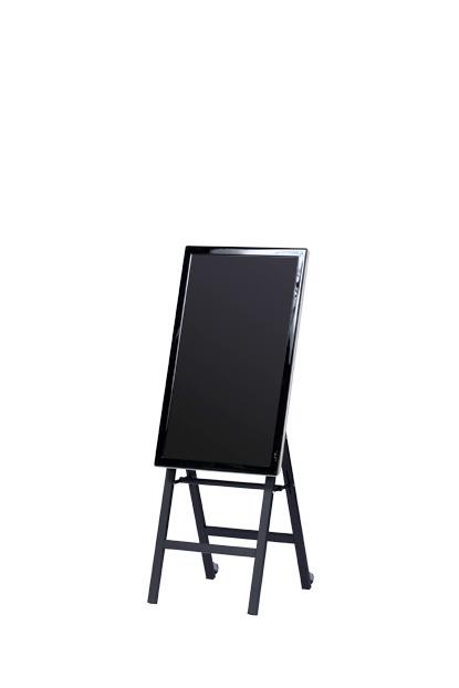 デジタルサイネージ イーゼルスタンド 40-50型 DSE-50 ブラック黒 壁寄せテレビスタンド VESA規格 縦・横200-400mm縦横設置可能画面中心高さ目安850mm 画面角度18° 金属製 スチール製 SDS エスディエス 日本製