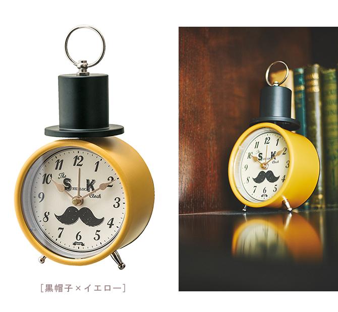 楽天市場 誕生日プレゼント かわいい目覚まし時計 Mustachu