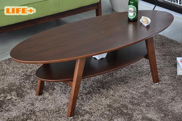 センターテーブル 楕円の木製リビングテーブル -VOLTA 120- [座卓 ローテーブル リビングテーブル オーバル 楕円形 木目 木製 テーブル 居間 センターテーブル リビングテーブル おしゃれ かっこいい センターテーブル]