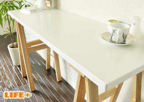 【送料無料】MAKINO 120-workdesk [デスク 机 カウンターテーブル 天然木 ナチュラル ホワイト 白色 爽やか カジュアル シンプル コンパクト 組み立て 幅120cm 奥行き40cm 小さめ オシャレ おしゃれ お洒落]