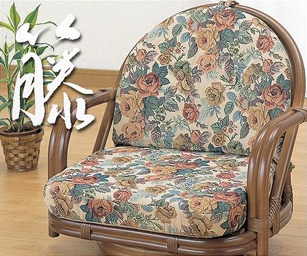 ラタンラウンドチェアー ロータイプ1脚【籐】【和室】【座椅子】【回転】【敬老の日】
