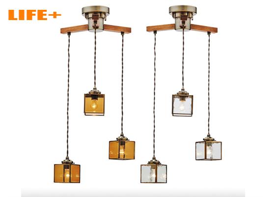 【送料無料】 アンティーク3灯ペンダントライト -Kostka dangle3- 白熱灯タイプ 【ペンダントランプ|シーリングライト|3灯|おしゃれ|照明|天井|レトロ|180W】