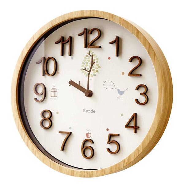オシャレな掛け時計 かわいい 壁掛け時計 おしゃれ 電波時計 -TRAD- [ウォールクロック キュート ナチュラル こども部屋 子供部屋 ギフト 新築祝い プレゼント 結婚祝い 贈り物 木製フレーム 可愛い デザイン時計 お洒落 人気 友達 友人 鳥 カワイイ 壁掛け時計 かわいい]
