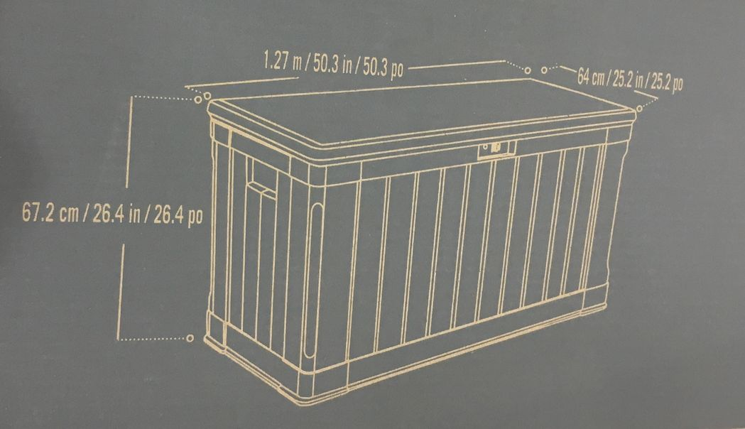 Lifetime plastic large storage box 439L lid storage sheds (物ire) ♦ same as in Keter Keter storage BOX will be on the bench