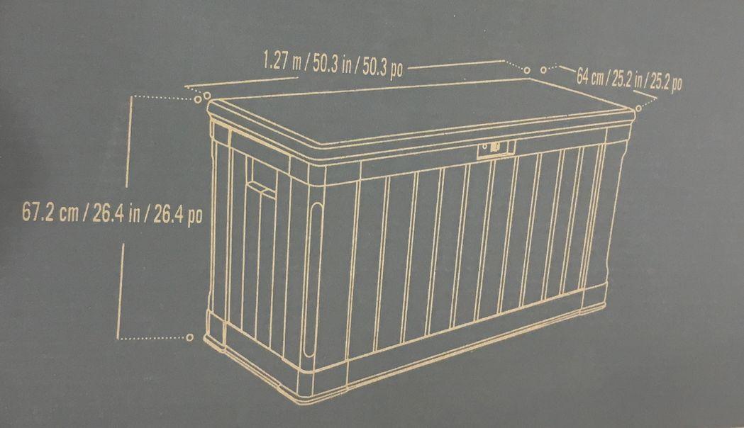 和有生活时间树脂制造大型收藏箱439L盖子的储藏室(把东西放进去)■Keter位数一样,并且也变成长椅的收藏BOX