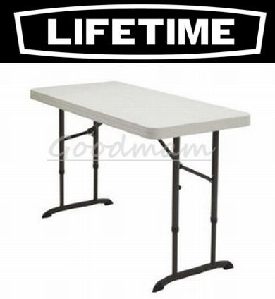 Lifetime Folding Table 4 Foot Seat Height Adjule 3 Stage 61 Cm 86