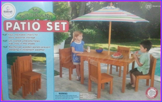 High Quality Kids Patio Set KidKraft ® Woodland 5 Piece Patio Set
