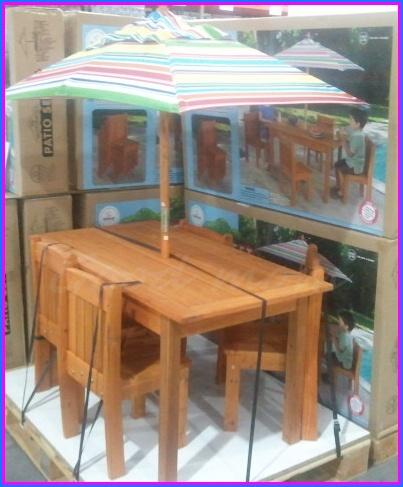 Kids Patio Set KidKraft U0026reg; Woodland 5 Piece Patio Set