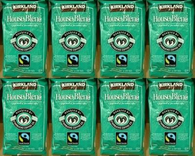 8個セット【送料無料】【KS カークランドスグネチャー スターバックス】 コーヒー豆(緑)【スタバ ロースト ハウス ブレンド】【STARBUCKS COFFEE】907g【コストコ通販】【送料無料:沖縄・一部離島は対象外】