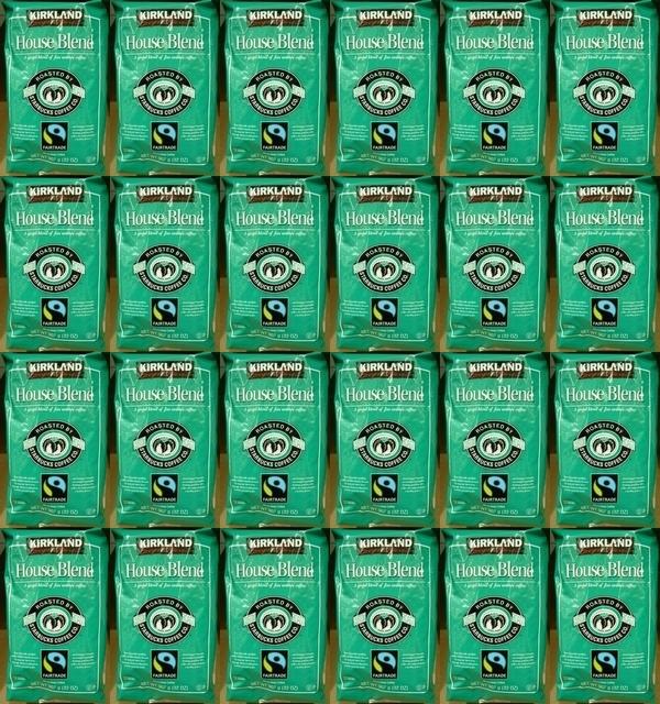 24個セット【送料無料:地域限定】【KS カークランドスグネチャー スターバックス】 コーヒー豆(緑)【スタバ ロースト ハウス ブレンド】【STARBUCKS COFFEE】907g【コストコ通販】【送料無料:沖縄・一部地域、離島は対象外】
