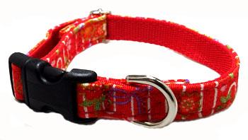 中型犬用首輪和柄生地で作った商品です