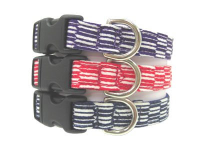 小型犬用首輪和柄生地で作った商品です