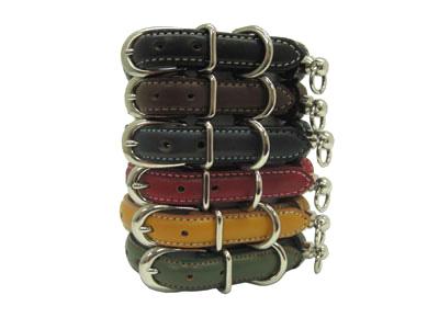 小型犬用首輪本革で作った商品です 黒 日本正規品 赤 紺 黄 緑 革シリーズ チョコから選べます 新着 犬 首輪 SSサイズ 無地