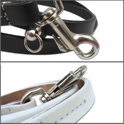 小型~中型犬用本革で作った商品です ブラック ホワイトから選べます 販売期間 限定のお得なタイムセール 犬 リード 1 送料無料激安祭 Sサイズ 革シリーズ