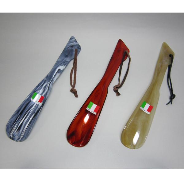 持ちやすくて使いやすい! イタリア製靴べら シューホーン Cヘラ おしゃれ 革紐付靴べら 持ちやすい