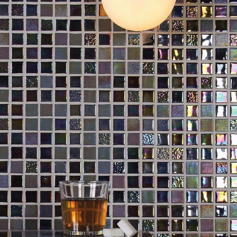 【送料無料】名古屋モザイク ガラスモザイクタイル 内装壁用 オニックスガラスモザイク セリエアクア(SUN)(OV-T2551~2556)