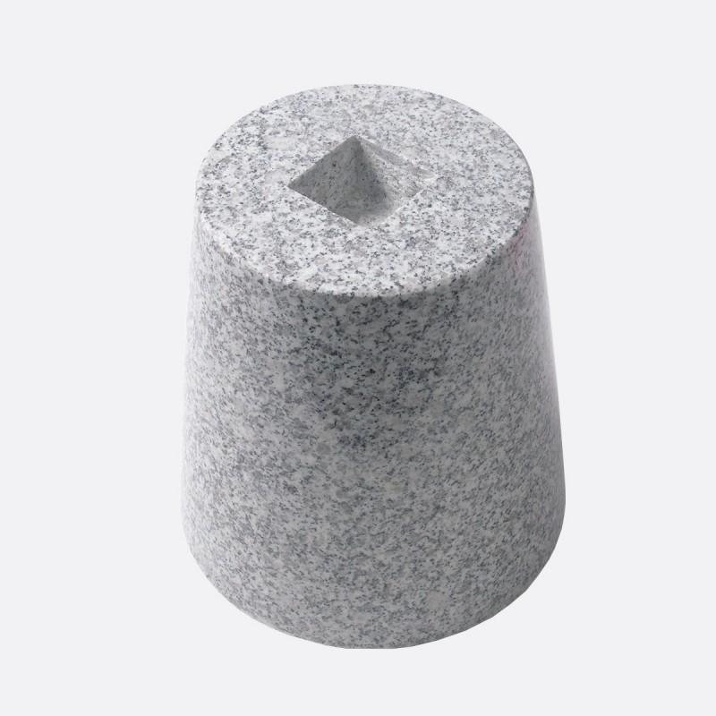 御影石 丸型・束石/沓石 (白・5寸) (MTW5)