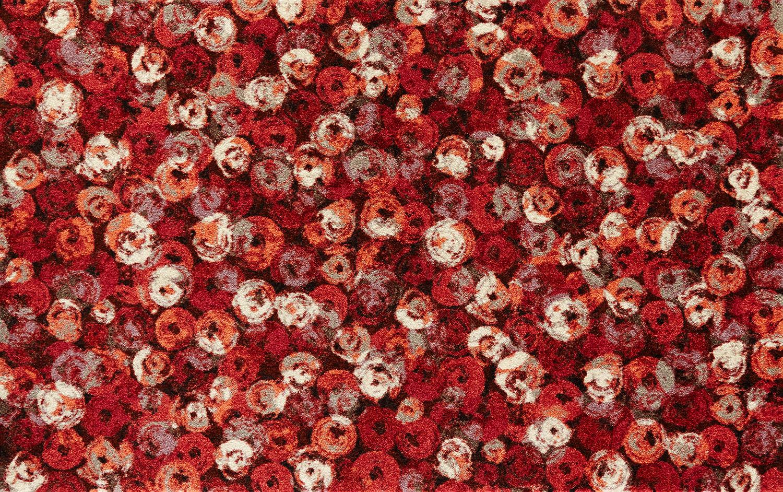 ラグマット 洗える カーペット 玄関・リビングフロア・キッチン Punilla red 110×175cm (K013I)