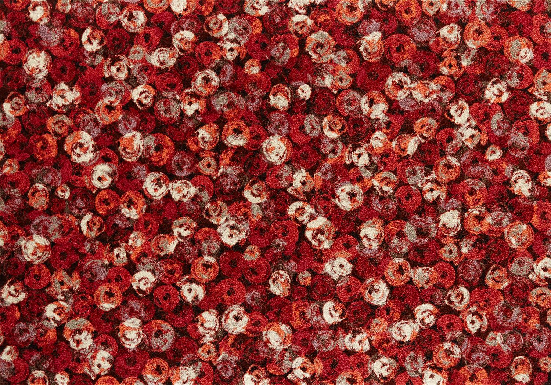 ラグマット 洗える カーペット 玄関・リビングフロア・キッチン Punilla red 140×200cm (K013K)