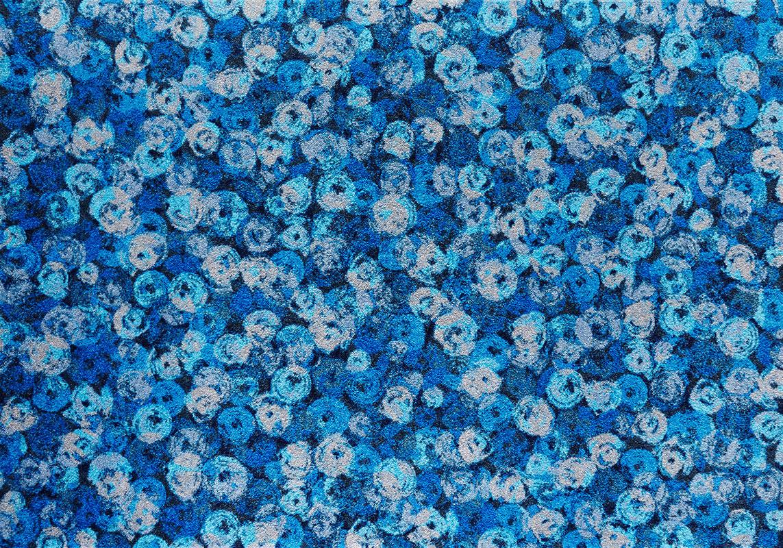 ラグマット 洗える カーペット 玄関・リビングフロア・キッチン Punilla blue 140×200cm (K014K)