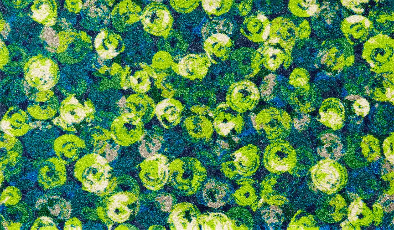 ラグマット 洗える カーペット 玄関・リビングフロア・キッチン Punilla green 70×120cm (K015E)
