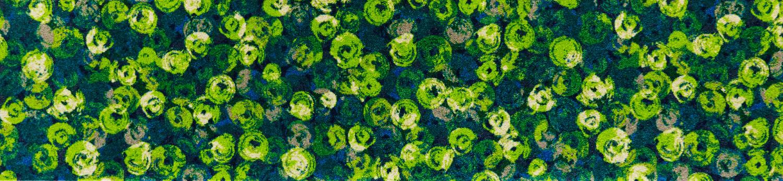 ラグマット 洗える カーペット 玄関・リビングフロア・キッチン Punilla green 60×260cm (K015F)