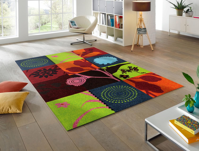 ラグマット 洗える カーペット 玄関・リビングフロア・キッチン Summer Breeze 110×175cm (K001I)