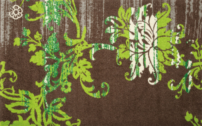 ラグマット 洗える カーペット 玄関・リビングフロア・キッチン Elisa taupe 75×120cm (K005B)