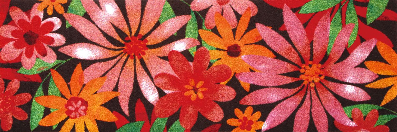 ラグマット 洗える カーペット 玄関・リビングフロア・キッチン Blumello 60×180cm (K006C)