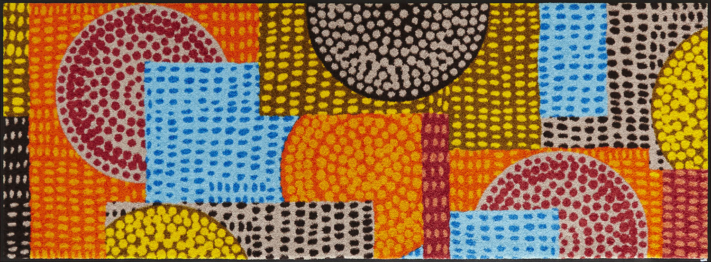 ラグマット 洗える カーペット 玄関・リビングフロア・キッチン Ethno Pop 70×190cm (C013G)