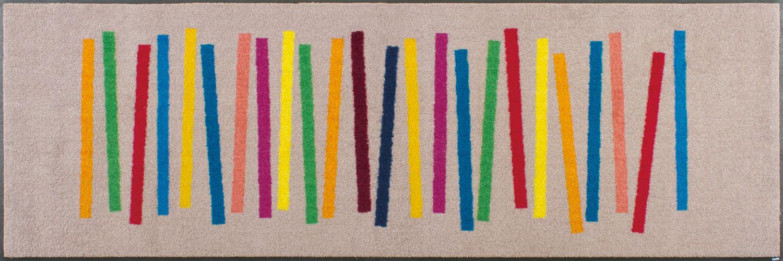 ラグマット 洗える カーペット 玄関・リビングフロア・キッチン Mixed Stripes 60×180cm (C011C)