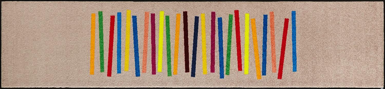 ラグマット 洗える カーペット 玄関・リビングフロア・キッチン Mixed Stripes 60×260cm (C011F)