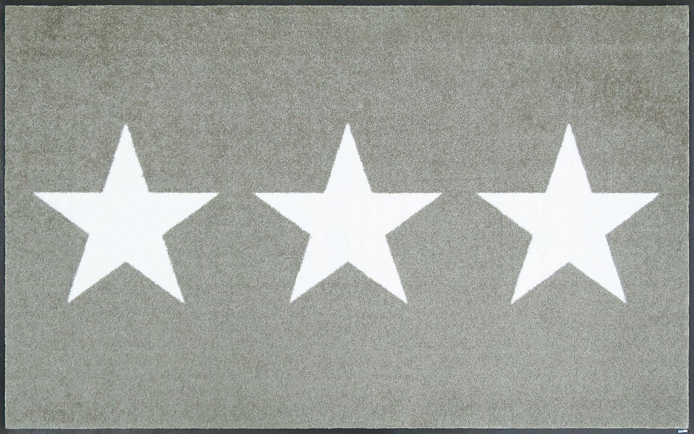 ラグマット 洗える カーペット 玄関・リビングフロア・キッチン Stars sand 75×120cm (C021B)