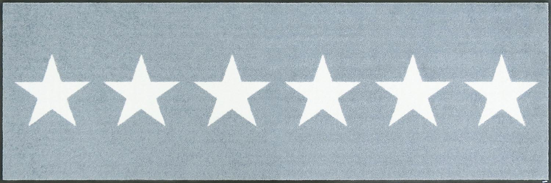 ラグマット 洗える カーペット 玄関・リビングフロア・キッチン Stars grey 60×180cm (C022C)