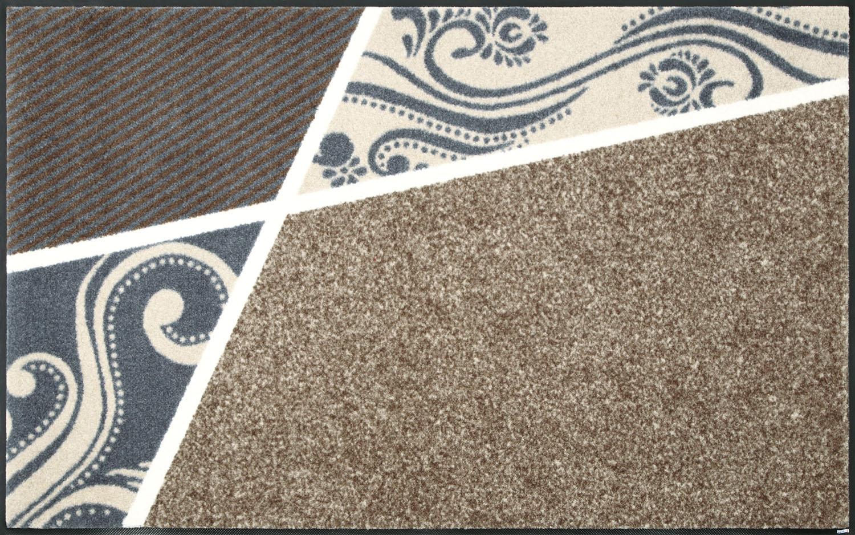 ラグマット 洗える カーペット 玄関・リビングフロア・キッチン Belgo beige 75×120cm (C020B)