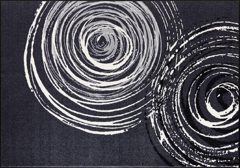 ラグマット 洗える カーペット 玄関・リビングフロア・キッチン Swirl 140×200cm (D017K)