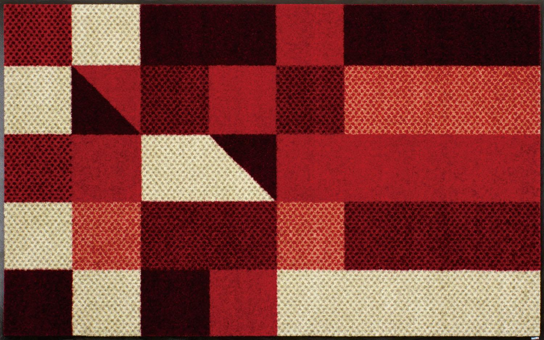 ラグマット 洗える カーペット 玄関・リビングフロア・キッチン Lumina reddish 75×120cm (J001B)