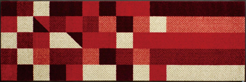ラグマット 洗える カーペット 玄関・リビングフロア・キッチン Lumina reddish 60×180cm (J001C)