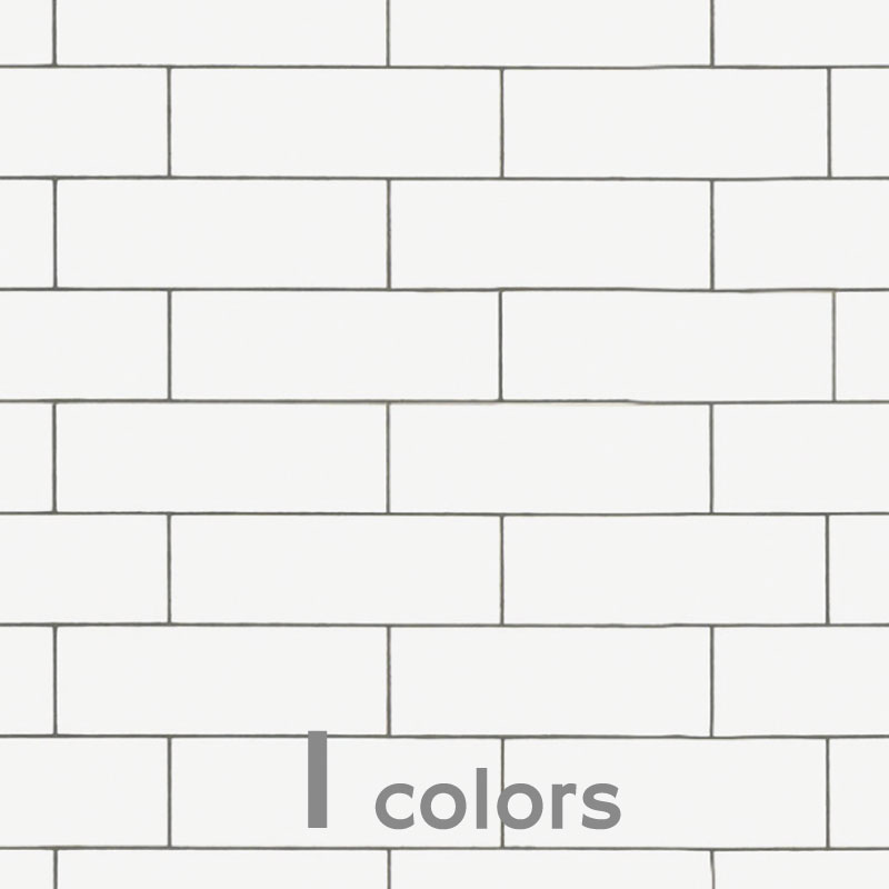 サブウェイタイル調 キッチン・リビング・浴室等壁用 サブウェイ・ホワイト 【送料無料】