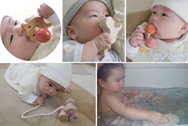 Baby Toy Box Set (A Type)  Wooden Toys (Ginga Kobo Toys) Japan