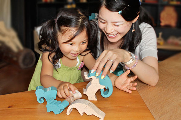 STANDING ELEPHANT PUZZLE  Wooden Toys (Ginga Kobo Toys) Japan