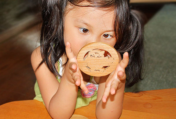 ♦ coasters made of Japan Wood Fu 福 OWL playful toy building block type up practical fun rather than 1-year-old 2 years 3 years 4 years 5 years birthday gift-baby boys girls domestic barrier-free woodworking craftsmen hand-made birthday celebration and us