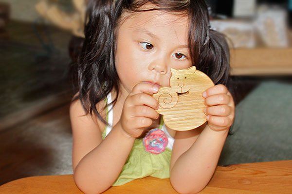 -Coaster-Japan Wood filled with neighborhood cats playful toy building block type Solitaire fun! design 1 year old 2 years 3 years 4 years 5 years birthday gift-baby boys girls domestic woodworking craftsmanship and use those P25Jun15